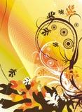Illustration florale décorative Photo stock
