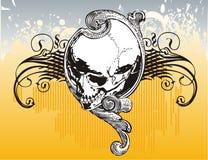 Illustration florale de crâne. image libre de droits