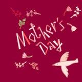 Illustration florale de mère du ` s de vecteur heureux de jour Belle carte de concept pour célébrer le jour du ` s de mère illustration stock