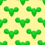 Illustration florale de vecteur de plante tropicale de vert de fleur de désert de nature de cactus de cactus sans couture succule Photo libre de droits