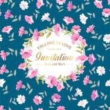 Illustration florale du cercle ornament Photo stock