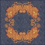 Illustration florale du cru frame Images stock
