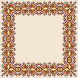 Illustration florale du cru frame Photographie stock libre de droits