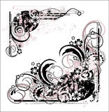 Illustration florale grunge Photo libre de droits