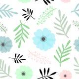 Illustration florale sans couture de vecteur de modèle illustration libre de droits