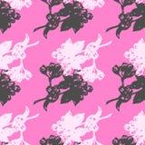 Illustration flower, blooming apple branch. Seamless pattern. Illustration flower, blooming apple branch. Seamless pattern Stock Photos