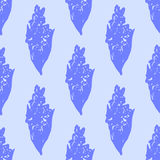 Illustration of flower, canna. Seamless pattern. Royalty Free Stock Photos