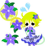 The illustration of  flower girl Royalty Free Stock Image
