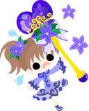 The illustration of  flower girl Stock Photo