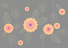 Illustration of flower pattern. Royalty Free Stock Photos