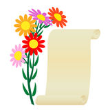 Flower and scroll. Stock Images
