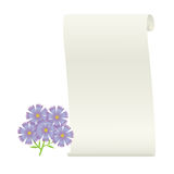 Flower and scroll. Royalty Free Stock Images