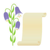 Flower and scroll. Stock Photo