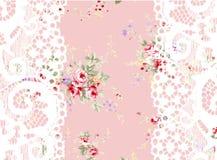 Flower Illustration pattern in simple background. Illustration flower in simple background. Banner, nature.Vintage Baroque Victorian frame border monogram floral Royalty Free Stock Image