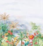 Flower Illustration pattern in simple background. Illustration flower in simple background. Banner, nature.Vintage Baroque Victorian frame border monogram floral stock illustration