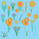 Illustration of flowers. Image of flowers and plants for decoration Stock Illustration