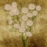 Illustration of flowers blurred background beige Royalty Free Stock Image
