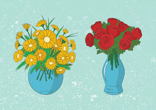 Illustration of flowers vector Royalty Free Stock Photo