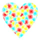 Illustration flowers heart for valentine's day Stock Images