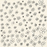 Illustration of flowers on a sheet of lined paper Royalty Free Stock Images