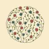 Illustration of flowers vignette. Illustration of beautiful flowers vignette Royalty Free Stock Photos