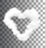 Illustration Fluffy Cloud Shape Heart Love Royalty Free Stock Photo