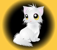 Illustration of fluffy white Cat Royalty Free Stock Photography