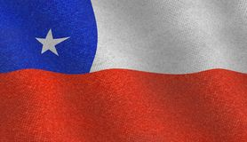 Illustration of a flying Chilean flag Royalty Free Stock Photos
