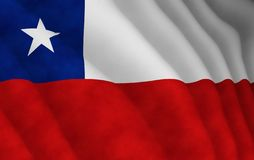 Illustration of a flying Chilean flag Royalty Free Stock Image