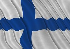 Illustration of a Finnish Flag. Illustration of a flying Finnish Flag Stock Image