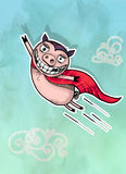 Illustration of Flying Pig Royalty Free Stock Images