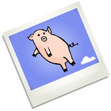 Illustration of a flying pig Stock Image