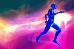 Illustration folâtre courante de rendu du concept 3d de course de runinng de la vie ou de marathon illustration de vecteur