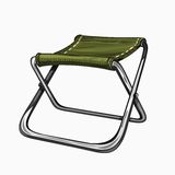 Illustration of  folding camp chair on. Illustration of  folding camp chair. Colored on white background. Camping gear, hiking Stock Images