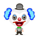Illustration folle de clown Image libre de droits