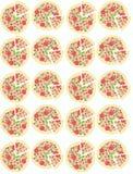 Illustration Fond avec des pizzas Configuration sans joint Image stock