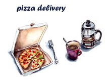 Free Illustration - Food Delivery Stock Photography - 179943772