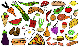 Food doodle Stock Photo