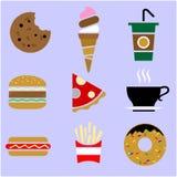 Illustration of food and drinks stock illustration