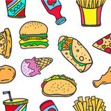 Illustration food object style of doodles Stock Image