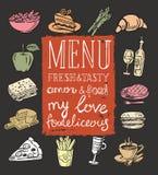 Illustration of food Stock Photos