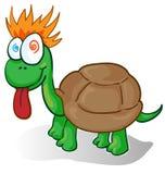 Illustration of a foolish cartoon turtle. Vector illustration of a foolish cartoon turtle royalty free illustration