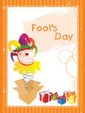 Illustration fools day gretting card Royalty Free Stock Photos