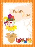 Illustration fools day gretting card Royalty Free Stock Photos