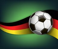 Illustration with football or soccet ball and flag of Germany. Illustration with foootbal or soccet ball and flag of Germany. Vector for international world Stock Photography
