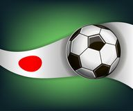 Illustration with football or soccet ball and flag of Japan. Illustration with foootbal or soccet ball and flag of Japan. Vector for international world Royalty Free Stock Photography