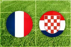 France vs Croatia football match Royalty Free Stock Images