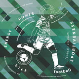 Illustration of football player Royalty Free Stock Photography