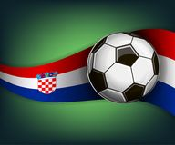 Illustration with football or soccet ball and flag of Croatia. Illustration with foootbal or soccet ball and flag of Croatia. Vector for international world Royalty Free Stock Image