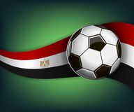 Illustration with football or soccet ball and flag of Egypt. Illustration with foootbal or soccet ball and flag of Egypt. Vector for international world Royalty Free Stock Photos